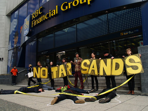Vancouver to RBC:  End Investments in the Tar Sands | by Rainforest Action Network