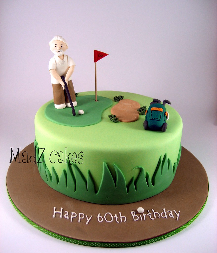 Golf  A chocolate mudcake for the birthday party of a golf ...