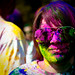Stanford Holi : purple caked sunglasses