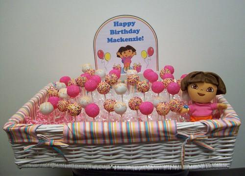 Dora Cake Recipe In English: Dora Themed Cake Pops For Mackenzie's 2nd