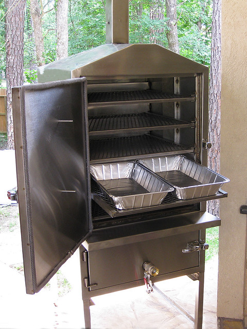 Bbq vault smoker c custom solid stainless steel