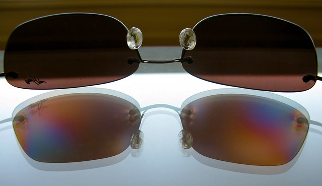 UV measurement of sunglasses polarized