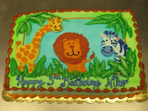 Baby Shower Cakes Safari Animals
