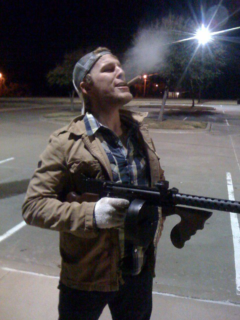 What Smoking Gun >> tommy gun with cigar | we took the paintball thompson machin… | Flickr