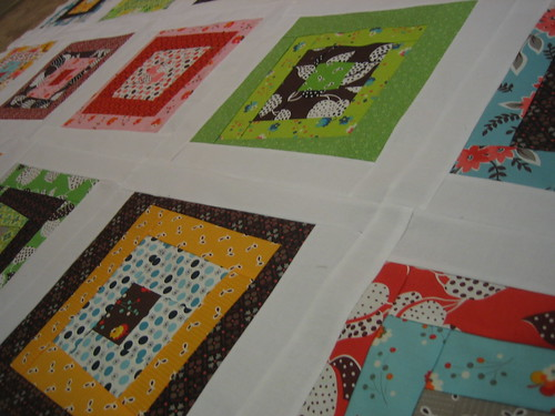 Flea Market Fancy quilt top peek | by Lucy & Norman