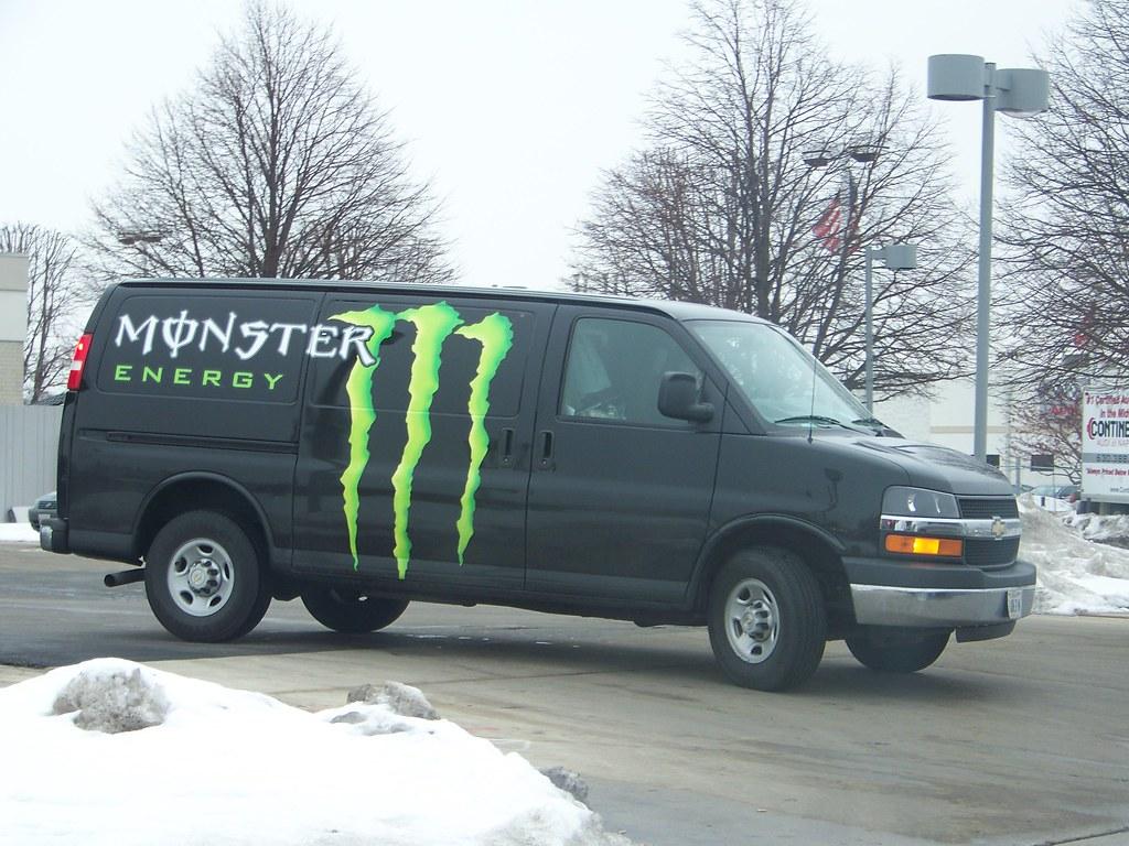 MONSTER ENERGY Van | On the way to Get my phone on my ...