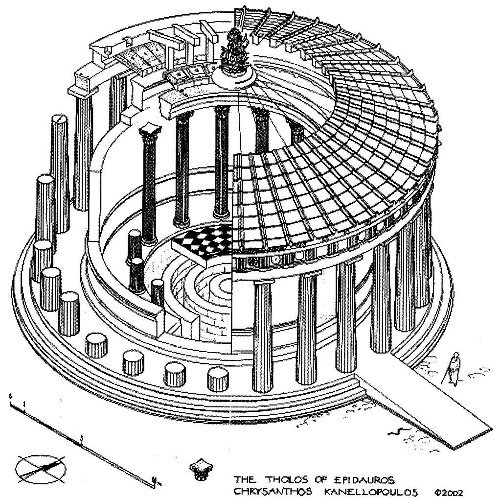 Qa078 A Model Of The Tholos Of Epidaurus Fig 78 P