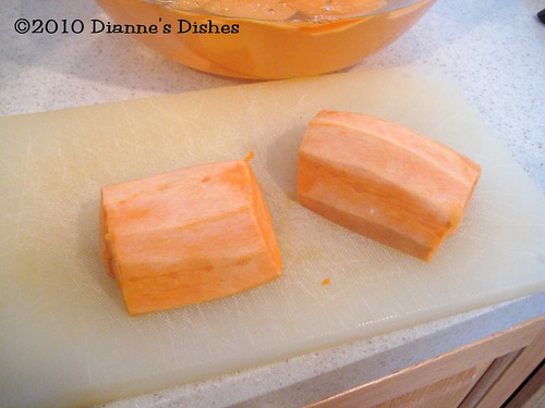 Sweet Potato Chips: Cut in Half | by Dianne's Dishes