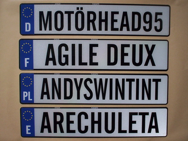 Personalized Plates For Sports Cars