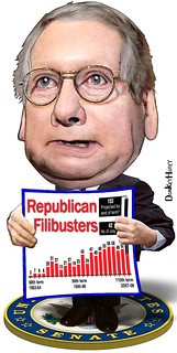 Mitch McConnell, Filibuster King | by DonkeyHotey