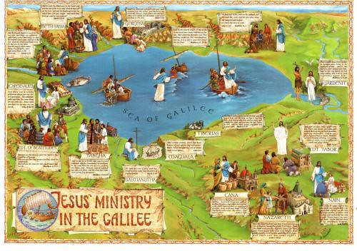 Image result for The ministry of Jesus in Galilee pictures