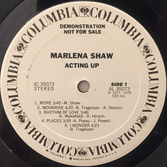 MARLENA SHAW:ACTING UP(LABEL SIDE-A)