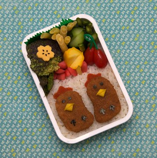 cute chickies bento [explored] | by gamene