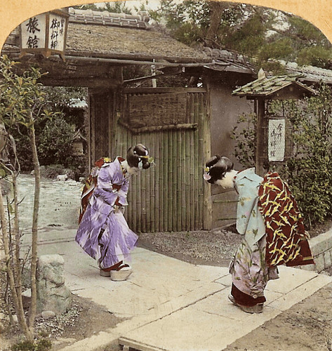 (animated stereo) Maiko meeting in Meiji-era japan | by Thiophene_Guy