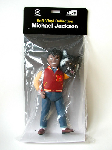San marusan michael jackson sofubi figure packaging 2010 for Three jackson toy