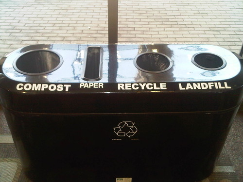 Go Green! Compost, Paper, Recycle Landfill at the Austin Convention Centre | by Chris Breikss