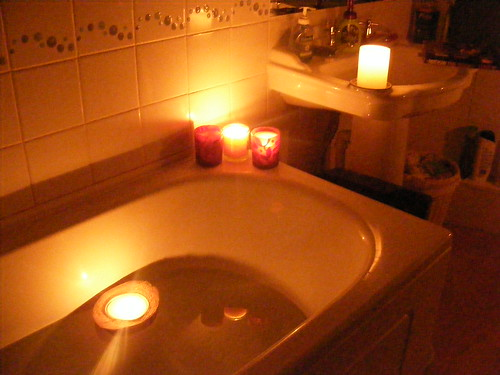 Earth Hour Candle Lit Bath What Did You Do This Year
