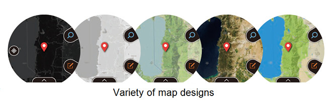 Variety of map designs