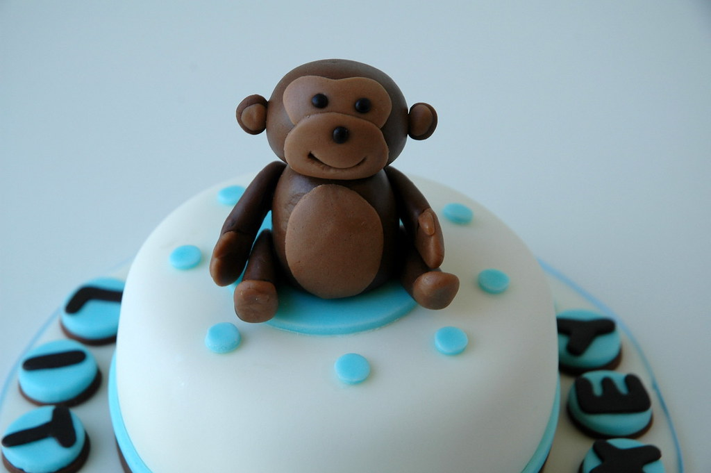 Mini Cake For Monkey Themed Baby Shower This Is A 4 Inch M Flickr