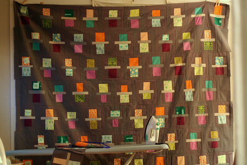 fraction quilt two rows to go had to pin it up because flickr. Black Bedroom Furniture Sets. Home Design Ideas