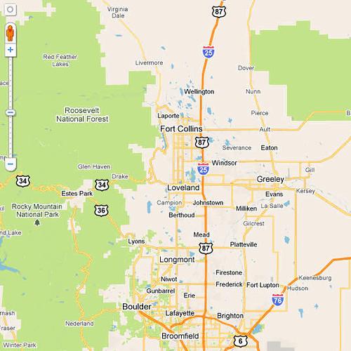 Northern Colorado Map Larry Flash Alexander