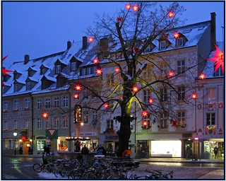Christmas decoration in the streets of Freiburg | by pergi28