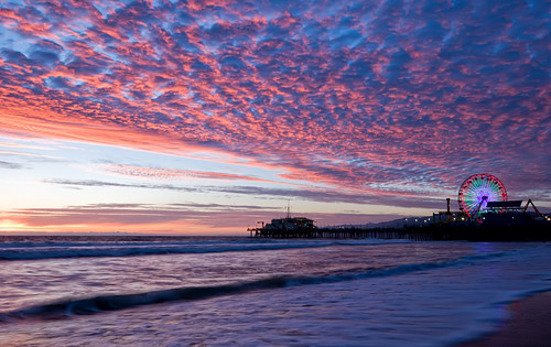 Santa Monica Sunset with Pier | by Peter Gorges