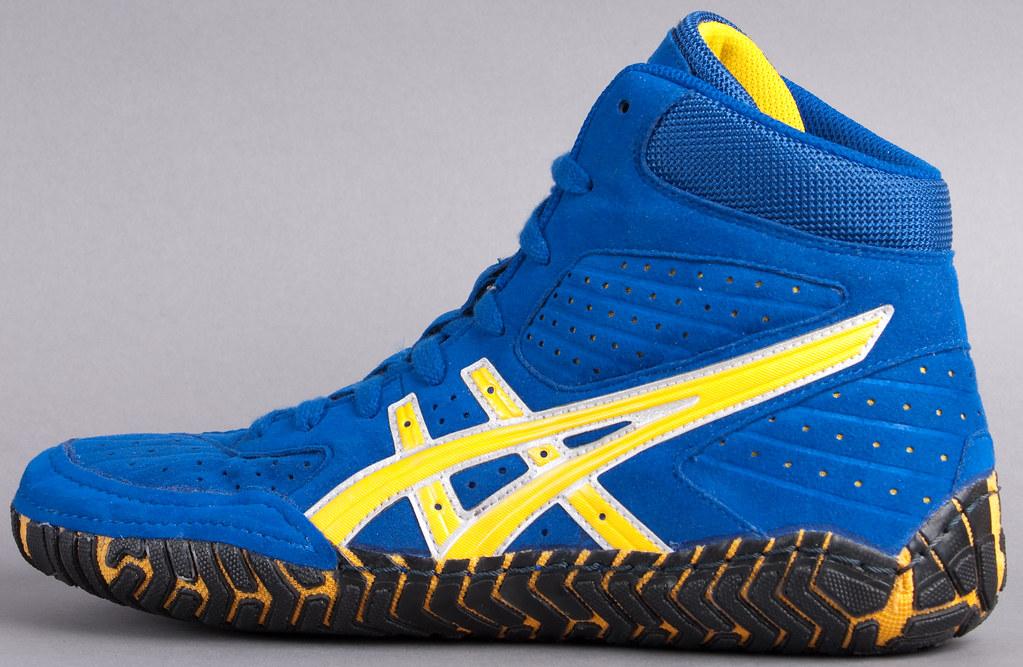 Wrestling Shoes - Asics Aggressor Royal Blue and Gold   Flickr
