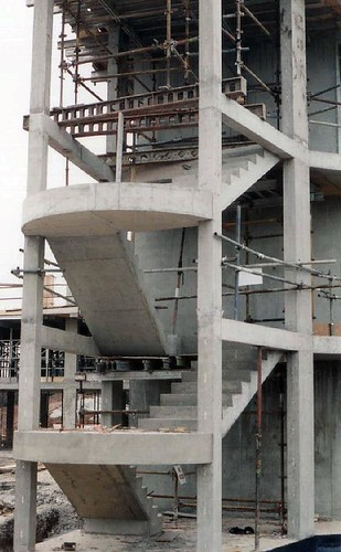 External Stair Concrete Glass Balustrade
