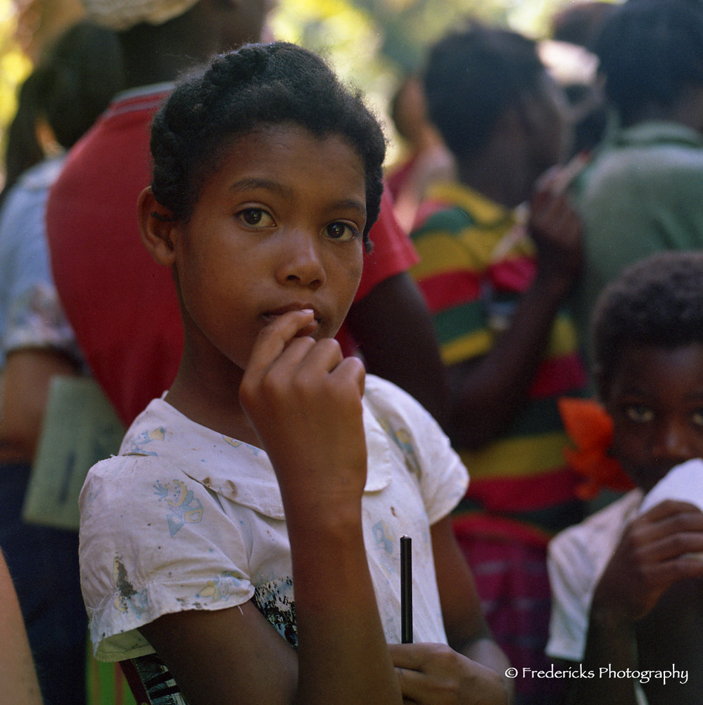 Jamaican School Girl  Young Jamaican School Girl Waiting -3178