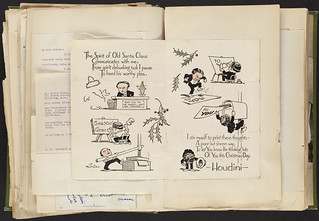 Harry Houdini Scrapbook [Christmas Card] | by Boston Public Library