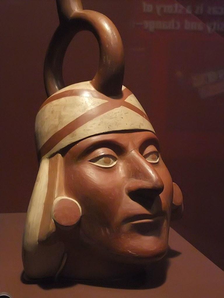 Ceramic Portrait Vessel Moche 100 800 Ce La Libertad Regio