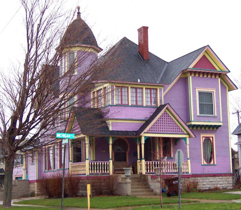 Purple victorian house ladydragonflycc for New victorian homes