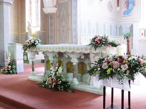 Altar At Killeagh Church Co Cork Bloomsday Flowers