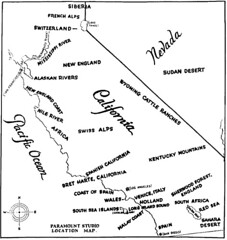 Paramount Studio map of California's geographical facsimiles, fron The Motion Picture Industry as a Basis for Bond Financing, 1927 | by Ambrosia Voyeur