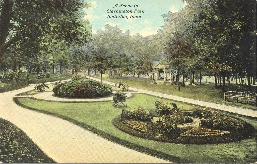 Iowa >> A scene in Washington Park, Waterloo, Iowa | Waterloo Public Library | Flickr