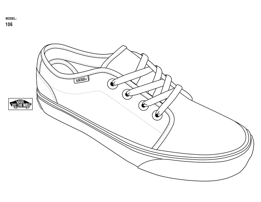 Line Drawing Shoes : Official templates straight from vans designers