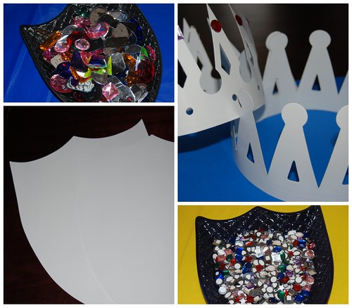 Paper Shields and Crowns Craft Project | by Sweet Shoppe Mom and Simply Sweets