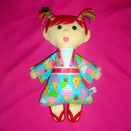"""Sachi"" Kimono Kids Doll made from felt and fabric 