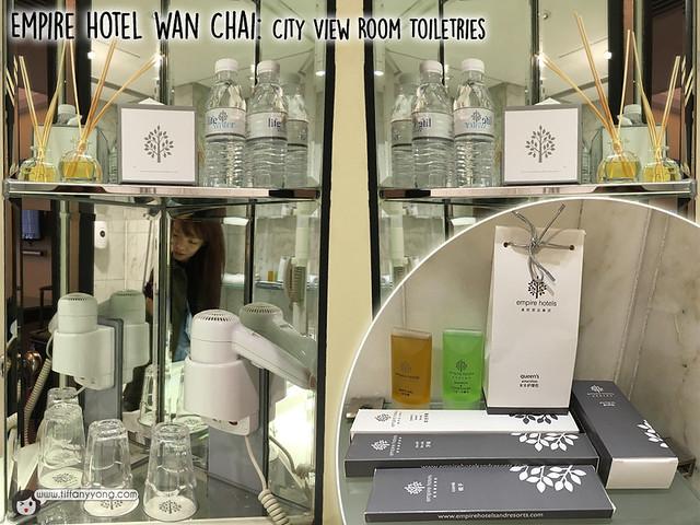 Empire Hotel Wan Chai toiletries
