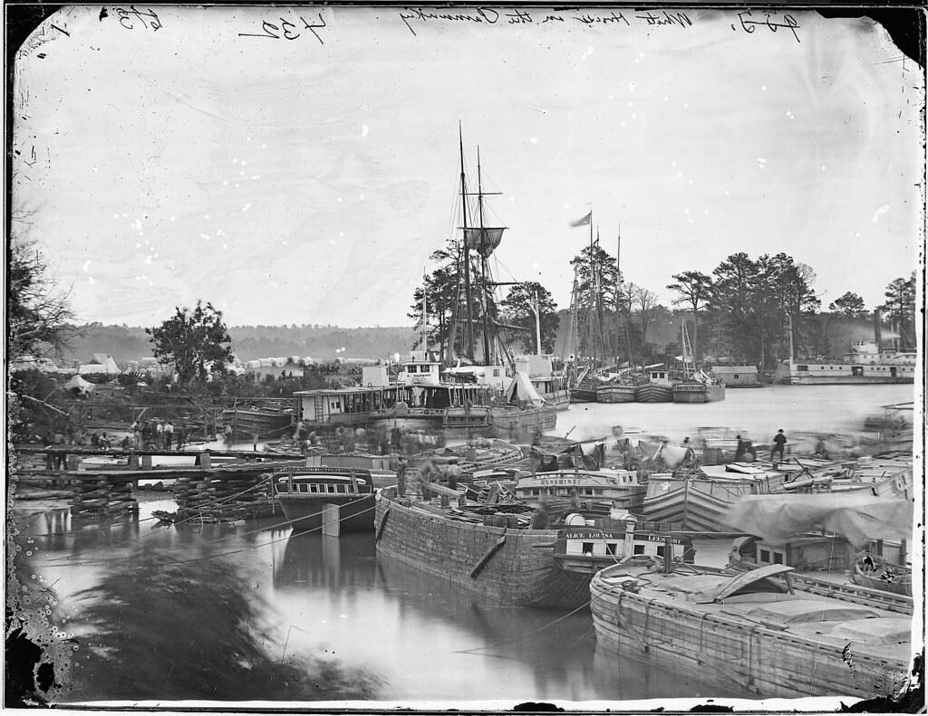 White House Landing, Pamunkey River, Va   Original Caption ...