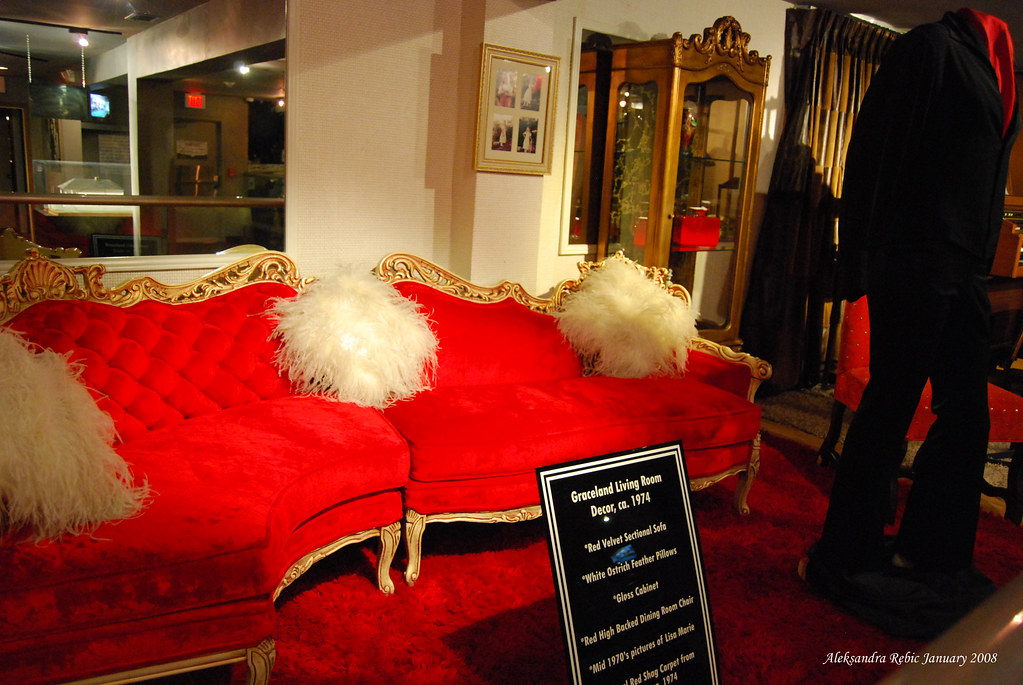 Elvis Red Living Room Furniture Circa 1974 On Display At G