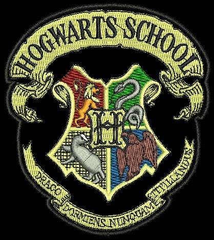 Emblema Acad 233 Mico Quot Hogwarts School Quot Bordados