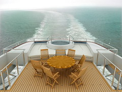 flydeck of a superyacht with furniture | by frame.fusion