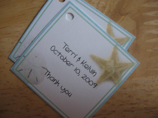 Blue/Green Beach Themed Wedding Favor Tags by Weddings*n*Whimsy