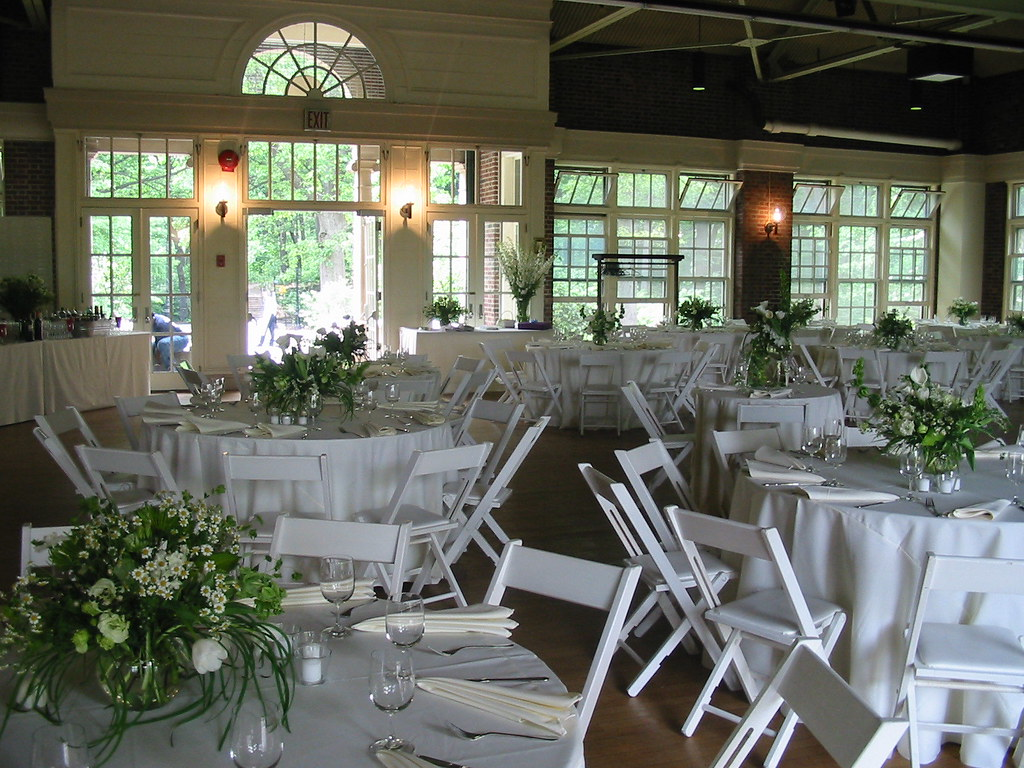 Spring Wedding at the Prospect Park Picnic House - interior reception