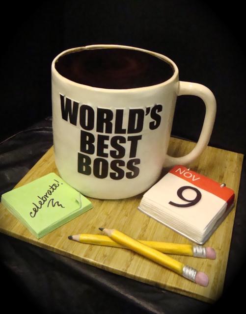 Cake Designs For Your Boss : world s best boss mug cake supersized stuff! mug is 10 ...
