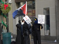 Dec 12 '09 Minneapolis protest against the cult of scientology | by CradleApex
