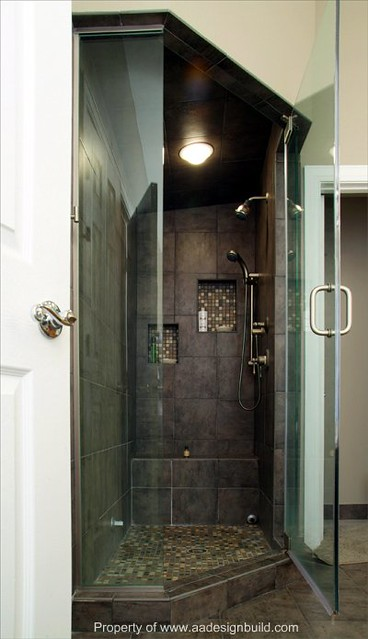 Custom corner steam shower aging i for Build steam shower