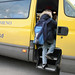 _MG_7079.jpg - Jeremy, a 9-year old Caucasian, takes his first step to school by boarding the bus in Piedmont, Italy